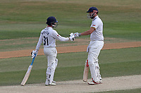 Adam Wheater (L) and Nick Browne of Essex enjoy a useful partnership during Essex CCC vs Somerset CCC, Specsavers County Championship Division 1 Cricket at The Cloudfm County Ground on 28th June 2018