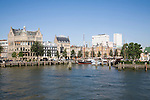Buildings and harbour historic Veerhaven, Rotterdam, Netherlands