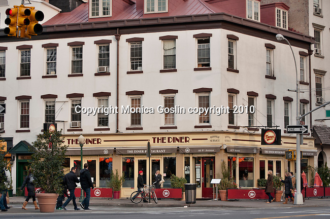 The Diner on the corner of 14th Street and 9th Avenue, in the meatpacking district in New York City