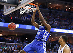 Kentucky Wildcats forward Bam Adebayo slams home a dunk against the North Carolina Tar Heels during the 2017 NCAA Men's Basketball Tournament South Regional Elite 8 at FedExForum in Memphis, TN on Friday March 24, 2017. Photo by Michael Reaves | Staff