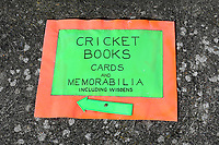 General view of Cricket Books sign ahead of Yorkshire CCC vs Essex CCC, Specsavers County Championship Division 1 Cricket at Scarborough CC, North Marine Road on 7th August 2017