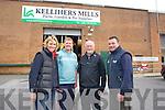 Kellihers Mills shop at Boyles Industrial estate From left Karen Nicholson, Giles Kelliher, Edward Kelliher and John Healy