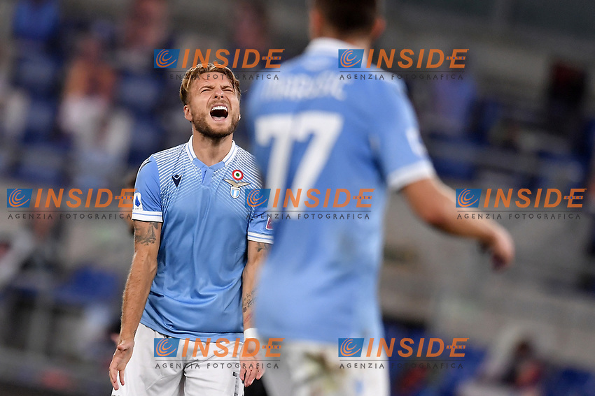 Ciro Immobile of Lazio <br /> during the Serie A football match between SS Lazio  and Brescia Calcio at stadio Olimpico in Roma (Italy), July 29th, 2020. Play resumes behind closed doors following the outbreak of the coronavirus disease. <br /> Photo Antonietta Baldassarre / Insidefoto