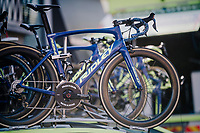 Kenny Dehaes' (BEL/WB Aqua Protect-Veranclassic) shiny bike<br /> <br /> 70th Kuurne-Brussel-Kuurne 2018<br /> Kuurne › Kuurne: 200km (BELGIUM)