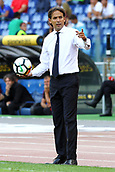 September 10th 2017, Olimpic Stadium, Rome, Italy; Serie A football league, Lazio versus AC Milan;   Simone Inzaghi coach of Lazio