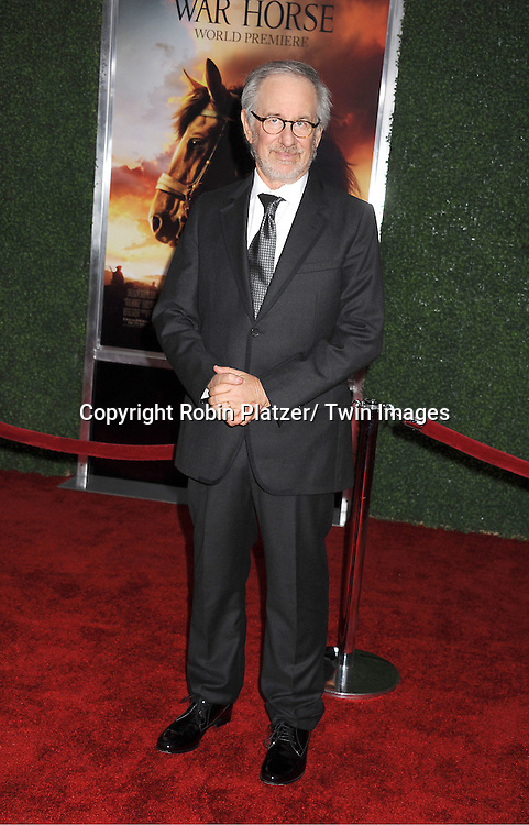 """Steven Spielberg attends the world premiere of """"War Horse"""" on December 4, 2011 at Avery Fisher Hall in New York City."""