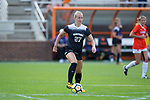 Monreau DeVos (27) of the Wake Forest Demon Deacons in action against the Clemson Tigers at Riggs Field on October 22 2017 in Clemson, South Carolina. The Tigers defeated the Demon Deacons 2-1. (Brian Westerholt/Sports On Film)