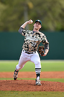 Slippery Rock James Divosevic (37) during a game against the Kentucky Wesleyan Panthers on March 9, 2015 at Jack Russell Stadium in Clearwater, Florida.  Kentucky Wesleyan defeated Slippery Rock 5-4.  (Mike Janes/Four Seam Images)