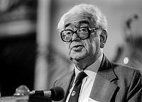 Ian Mikardo, MP, Labour Party, UK, addresses annual party conference, September, 1982, 198209000176IM2<br /><br />Copyright Image from Victor Patterson, 54 Dorchester Park, <br />Belfast, UK, BT9 6RJ<br /><br />t1: +44 28 9066 1296 (from Rep of Ireland 048 9066 1296)<br />t2: +44 28 9002 2446 (from Rep of Ireland 048 9002 2446)<br />m: +44 7802 353836<br /><br />victorpatterson@me.com<br />www.victorpatterson.com<br /><br />Please see my Terms and Conditions of Use at VICTORPATTERSON.COM. It is IMPORTANT that you familiarise yourself with them.<br /><br />Images used on the Internet must be visibly watermarked i.e. &copy;VICTORPATTERSON.COM within the body of the image and copyright metadata must not be deleted. Images used on the Internet have a size restriction of 4kbs and are chargeable at the then current NUJ rates.<br /><br />This image is only available for the use of the download recipient i.e. television station, newspaper, magazine, book publisher, etc, and must not be passed on to any third party. It is also downloaded on condition that each and every usage is notified within 7 days to victorpatterson@me.com<br /><br />The right of Victor Patterson to be identified as the author is asserted in accordance with The Copyright Designs And Patents Act (1988).
