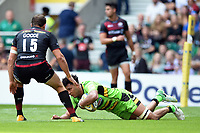 Lewis Ludlam of Northampton Saints scores a try in the second half. Aviva Premiership match, between Saracens and Northampton Saints on September 2, 2017 at Twickenham Stadium in London, England. Photo by: Patrick Khachfe / JMP