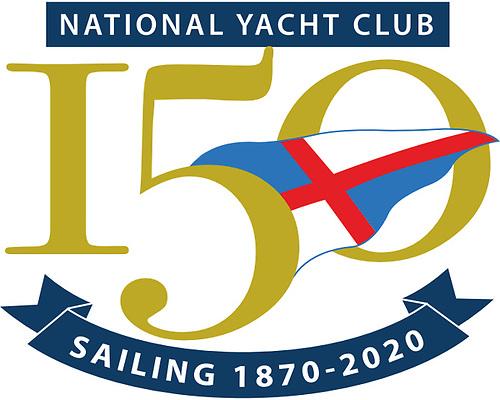National Yacht Club 150th logo