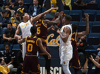 Berkeley, CA - January 21st, 2016:  CAL Men's Basketball's 75-70 victory against Arizona State at Haas Pavilion.