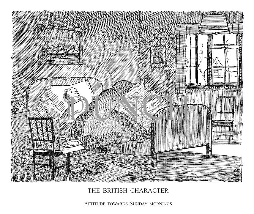 The British Character. Attitude Towards Sunday Mornings.