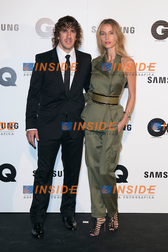 """Carles Puyol and Vanessa Lorenzo andattends the """"GQ AWARDS"""" at Palace Hotel in Madrid, Spain. November 3, 2014. (ALTERPHOTOS/Carlos Dafonte/Insidefoto)"""
