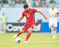CHARLOTTE, NC - JUNE 23: Luis Paradela #23 during a game between Cuba and Canada at Bank of America Stadium on June 23, 2019 in Charlotte, North Carolina.
