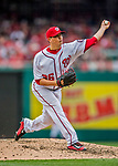 3 April 2017: Washington Nationals pitcher Sammy Solis on the mound in relief against the Miami Marlins on Opening Day at Nationals Park in Washington, DC. The Nationals defeated the Marlins 4-2 to open the 2017 MLB Season. Mandatory Credit: Ed Wolfstein Photo *** RAW (NEF) Image File Available ***