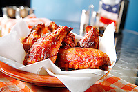 Barbecue chicken  in an American diner