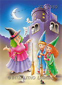 Interlitho, Lorella, REALISTIC ANIMALS, Halloween, paintings, witch, kids, castle(KL3580,#A#)
