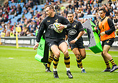 1st October 2017, Ricoh Arena, Coventry, England; Aviva Premiership rugby, Wasps versus Bath Rugby;  Josh Bassett of Wasps warms-up ahead of kick-off