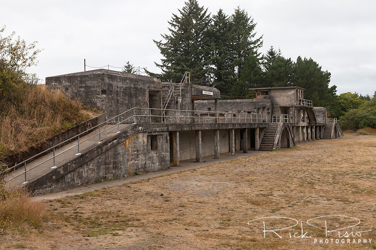 Battery Russell at at Fort Steven's State Park in Oregon. Battery Russel was one of three batteries that protected the mouth of the Columbia River. The fort first saw service during the Civil War and was active through World War II. Fort Stevens was the only military fort in the United States that was fired upon by an enemy during a time for war since the War of 1812, when it was attacked by a Japanese submarine on June 21, 1942.