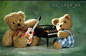 Interlitho, Alberto, CUTE ANIMALS, teddies, photos, 2 teddies, piano(KL1984/8A,#AC#)