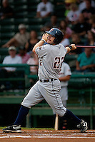 Infielder Tony Plagman #22 of the Lakeland Flying Tigers at bat during the game against the Daytona Beach Cubs at Jackie Robinson Ballpark on April 20, 2011 in Daytona Beach, Florida. Photo by Scott Jontes / Four Seam Images