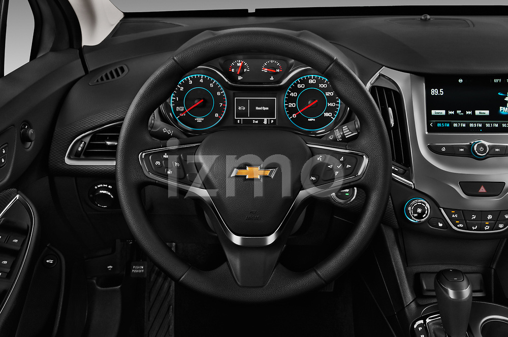 Car pictures of steering wheel view of a 2017 Chevrolet Cruze LT-Auto 4 Door Sedan Steering Wheel