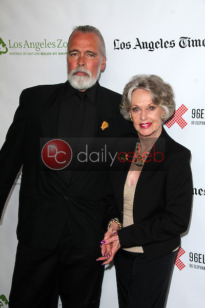 """Chris Gallucci, Tippi Hedren<br /> at the Green Carpet World Premiere and Panel Discussion of """"Illicit Ivory,"""" Los Angeles Zoo Witherbee Auditorium, Los Angeles, CA 05-26-15<br /> David Edwards/DailyCeleb.Com 818-249-4998"""