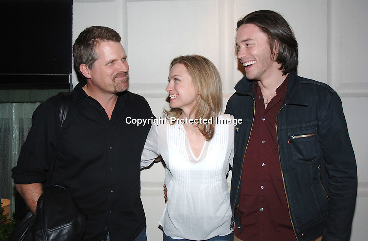 Robert Newman, Nicole Forester and Tom Pelphrey..at Marcia Tovsky's Pre Emmy Party on April 19, 2006..at Nikki Midtown...Robin Platzer, Twin Images