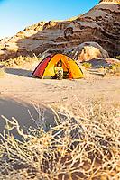 Desert camping, Wadi Rum, Jordan