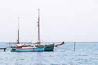 Old sailing boat. Marseillan. Languedoc. France. Europe.
