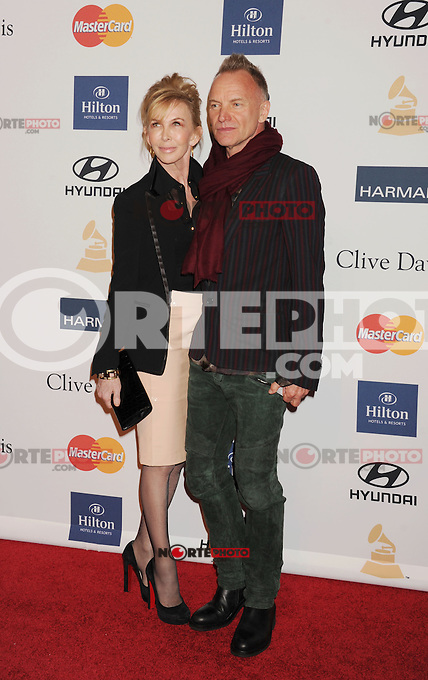 BEVERLY HILLS, CA - FEBRUARY 09: Trudy Styler and Sting arrive at the The 55th Annual GRAMMY Awards - Pre-GRAMMY Gala And Salute To Industry Icons Honoring L.A. Reid at the Beverly Hilton Hotel on February 9, 2013 in Beverly Hills, California.PAP0213JP405.PAP0213JP405. Nortephoto