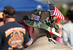 Army Vietnam veteran Mark Hanson waits for the start of a Veterans Suicide Awareness walk in Carson City, Nev., on Saturday, May 2, 2015. The event, hosted by Western Nevada College Veterans Resource Center, raises awareness of the more than 8,000 veteran suicides each year in the U.S. <br /> Photo by Cathleen Allison