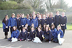 Sacred Heart 1st Year Students doing a clean up of the area around their school...Photo NEWSFILE/Jenny Matthews.(Photo credit should read Jenny Matthews/NEWSFILE)....This Picture has been sent you under the condtions enclosed by:.Newsfile Ltd..The Studio,.Millmount Abbey,.Drogheda,.Co Meath..Ireland..Tel: +353(0)41-9871240.Fax: +353(0)41-9871260.GSM: +353(0)86-2500958.email: pictures@newsfile.ie.www.newsfile.ie.FTP: 193.120.102.198.
