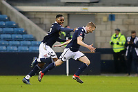 Shane Ferguson celebrates scoring Millwall's second goal with Mahlon Romeo during Millwall vs Hull City, Emirates FA Cup Football at The Den on 6th January 2019