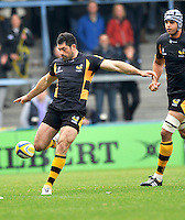 High Wycombe, England. Andrea Masi of London Wasps in action during the Aviva Premiership match between London Wasps and Worcester Warriors at Adam Park on October 7, 2012 in High Wycombe, England.