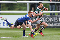 Joe Munro of Ealing Trailfinders breaks free to score a try during the British & Irish Cup Final match between Ealing Trailfinders and Leinster Rugby at Castle Bar, West Ealing, England  on 12 May 2018. Photo by David Horn / PRiME Media Images.