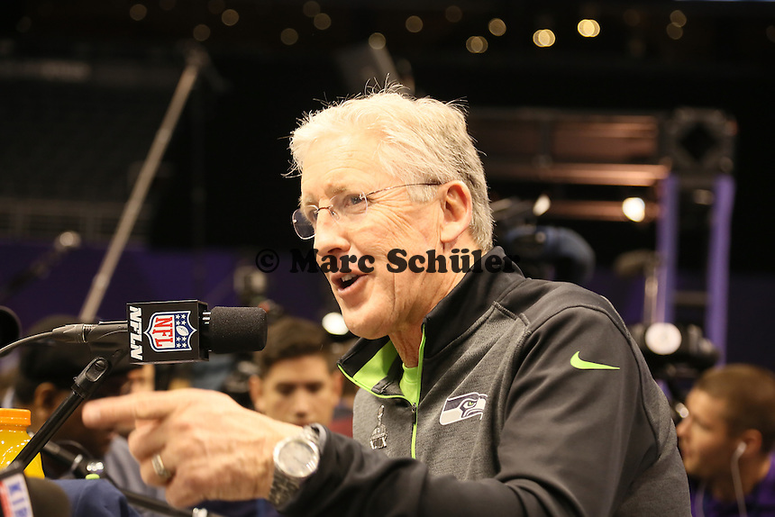 Head Coach Pete Carroll (Seattle) - Super Bowl XLIX Media Day, US Airways Center, Phoenix
