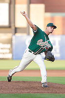 Greensboro Grasshoppers relief pitcher Tyler Kinley (32) in action against the Hagerstown Suns at NewBridge Bank Park on May 20, 2014 in Greensboro, North Carolina.  The Grasshoppers defeated the Suns 5-4. (Brian Westerholt/Four Seam Images)