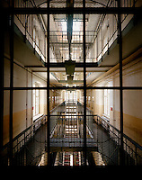 The corridors of Bautzen II, a former Socialist Stasi prison in Bautzen penitentiary, whose purpose from 1945 was to incarcerate political prisoners involved in the Nazi regime.  The Cold War, which formed part of the collective consciousness of post war Europe from 1945 until 1989 dominated the military and political landscape.  Often highly charged with nationalistic zeal, Soviet rhetoric and paranoia, relics of the Cold War remain as testaments to the covert era within Eastern Europe... CHECK with MRM/FNA