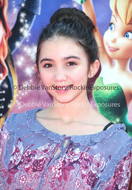 Rowan Blanchard attends The DisneyToon Studios Premiere of the animated adventure The Pirate Fairy held at Walt Disney Studios Lot in Burbank, California on March 22,2014                                                                               © 2014 Hollywood Press Agency