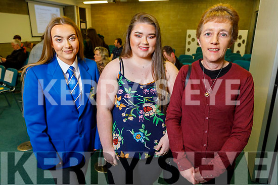 Ella Lenihan (Junior Cert Academic Award), Rachel Dunne with her mom Kathleen attending the Kerry ETB Student Awards ceremony in the IT Tralee on Friday night.