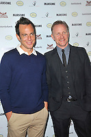 Will Arnett and Morgan Spurlock at the premiere of Morgan Spurlock's 'Mansome' at the ArcLight Cinemas on May 9, 2012 in Hollywood, California. © mpi35/MediaPunch Inc.