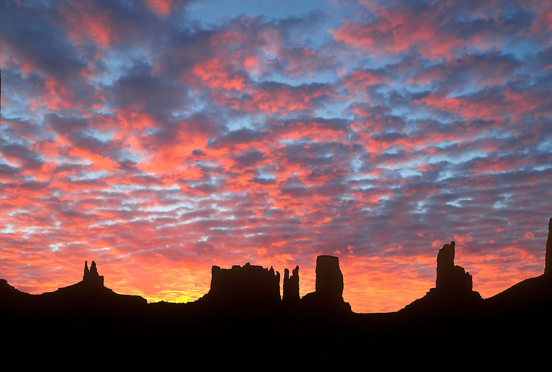 Monument Valley Sunrise. Arizona. Sky has been added