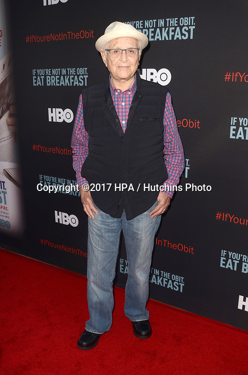 "LOS ANGELES - MAY 17:  Norman Lear at the ""If You're Not In The Obit, Eat Breakfast"" Premiere at the Samuel Goldwyn Theater on May 17, 2017 in Beverly Hills, CA"