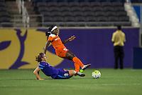 Orlando, FL - Thursday June 23, 2016: Josee Belanger, Chioma Ubogagu during a regular season National Women's Soccer League (NWSL) match between the Orlando Pride and the Houston Dash at Camping World Stadium.