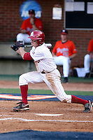 Erik Ross of the Oklahoma Sooners playing in Game Two of the NCAA Super Regional tournament against the Virginia Cavaliers at Charlottesville, VA - 06/13/2010. Oklahoma defeated Virginia, 10-7, to tie the series after two games.  Photo By Bill Mitchell / Four Seam Images