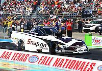 Sept. 22, 2013; Ennis, TX, USA: NHRA funny car driver Cruz Pedregon during the Fall Nationals at the Texas Motorplex. Mandatory Credit: Mark J. Rebilas-