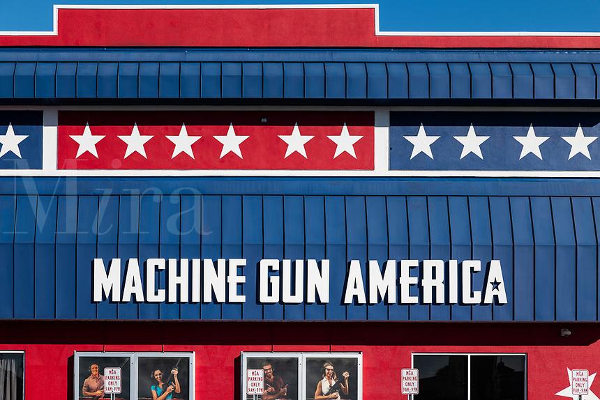 Machine Gun America  shooting range attraction, Kissimmee, Florida, USA.