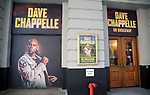 "Theatre Marquee unveiling for ""Dave Chappelle on Broadway"" at the Lunt-Fontanne on July 9, 2019 in New York City."